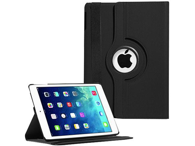 SmackTom 360° Rotating PU Leather Smart Stand Case Cover for Apple iPad Air (Black)