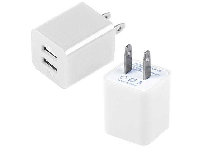 AC Power Adapter 2 USB Port Wall Charger For Smartphones Tablets Phablets PDAs