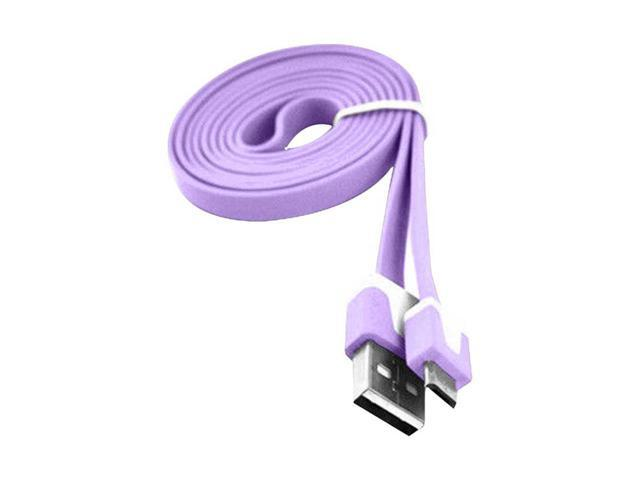Micro USB Data Sync & Charge 6ft Long Cable Transfer For HTC/ LG/ SONY- Purple