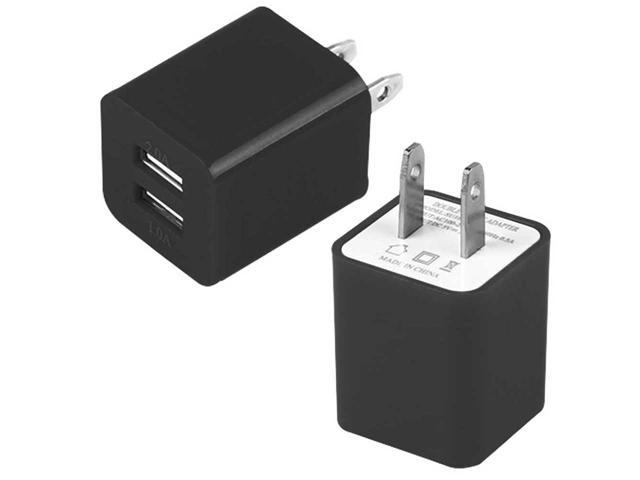 Dual Port USB Home Wall Charger AC Adapter for Cellphones Smartphone/ Tablet/ Phablet/ PDAs
