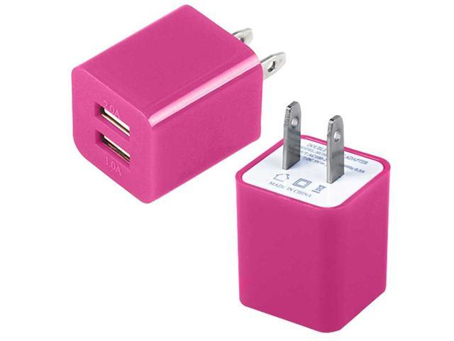 Dual Port USB Home Wall Charger AC Adapter for Cellphones/ Smartphone/ Tablet