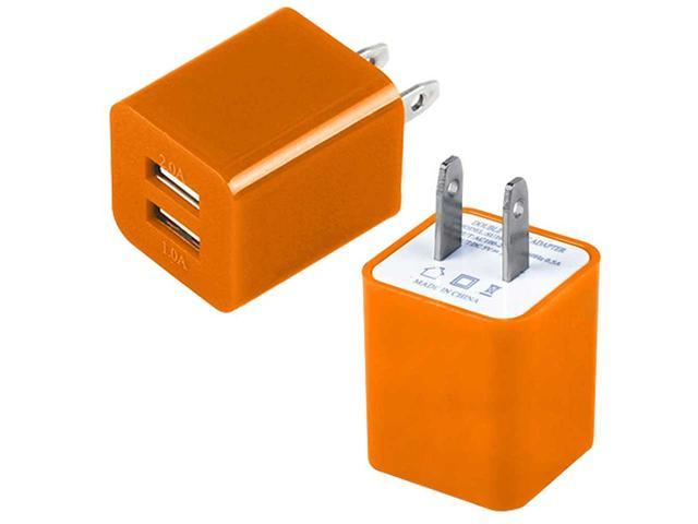 Dual Port USB Home Wall Charger AC Adapter for Cellphones Smartphone Tablet Phablet PDAs
