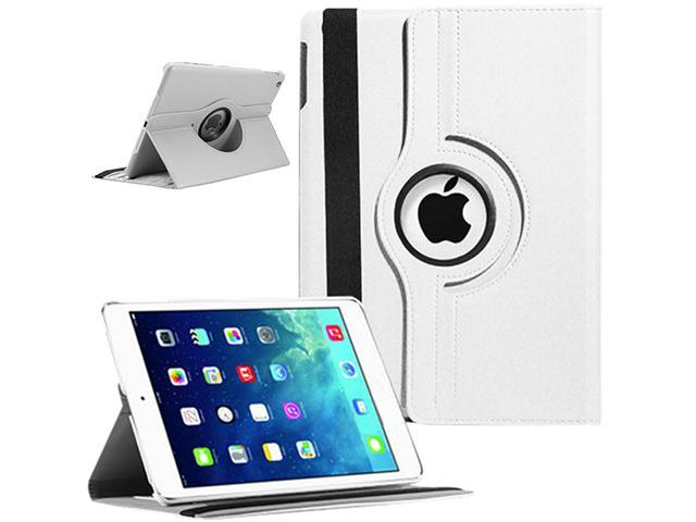 Auto Sleep/Wake Function 360 Degree Rotating Smart Case Cover For 9.7 inch iPad Air 5th Generation - White