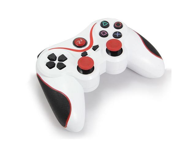 Play Station 3 PS3  Wireless Controller game pad -  White + Red Strips