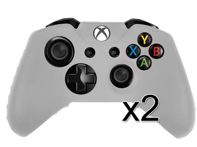 2 Pack Frost See Thru Soft Silicone Case Cover For Microsoft Xbox One Game Controller
