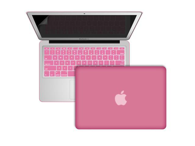Baby Pink Frosted Rubberized Hard Shell Case Cover For Macbook Air 11.6 inch (Model: A1370 and A1465)