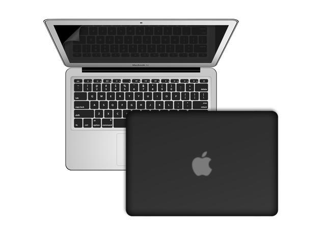 Black Frosted Rubberized Hard Shell Case Cover For Macbook Air 11.6 inch (Model: A1370 and A1465)