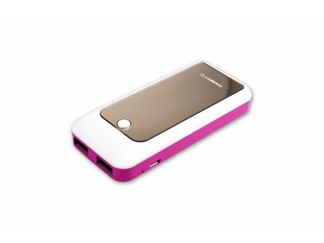 Cellevo EP5622S-W 5600mAh Portable Battery for All Smartphones & Other Mobile Devices with 5V/1A + 5V/1A Dual Output - Pink
