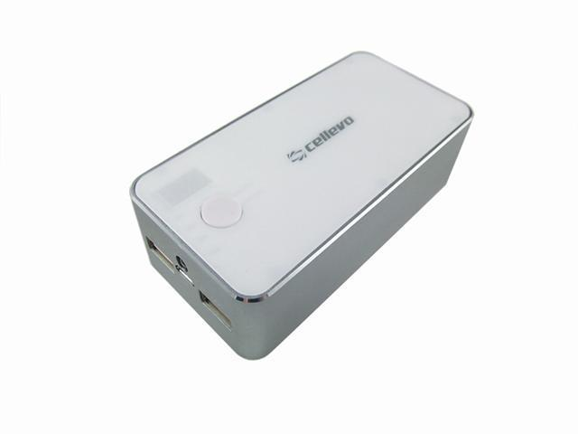 Cellevo Portable Lithium Polymer Battery 13500 mAh with LCD Digital Display - White