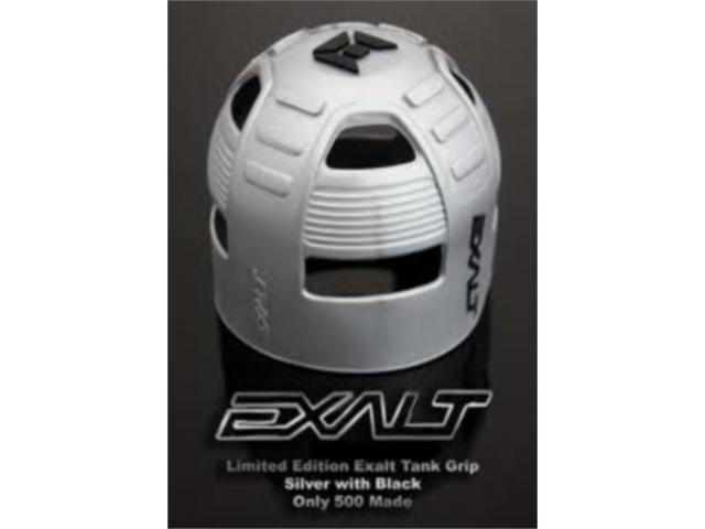 Exalt Paintball Limited Edition Tank Grip Cover All Sizes  - Silver/Black