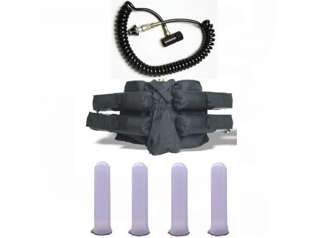 GXG Paintball Pack 4+1 Harness Black/Tubes/Coiled Remote