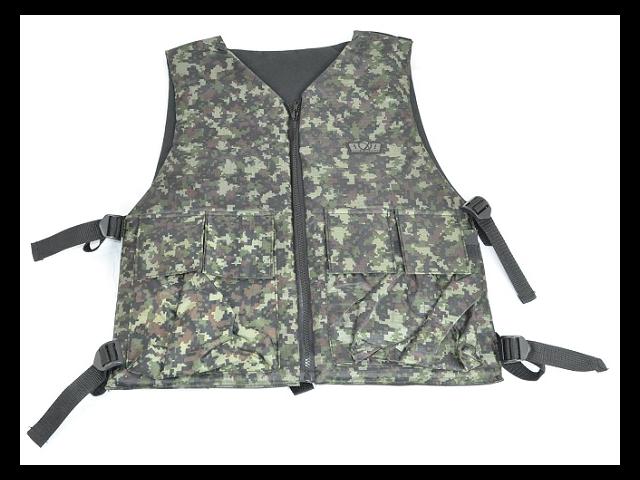 GXG Paintball Reversible Vest/Chest Protector - Digi Green/Black