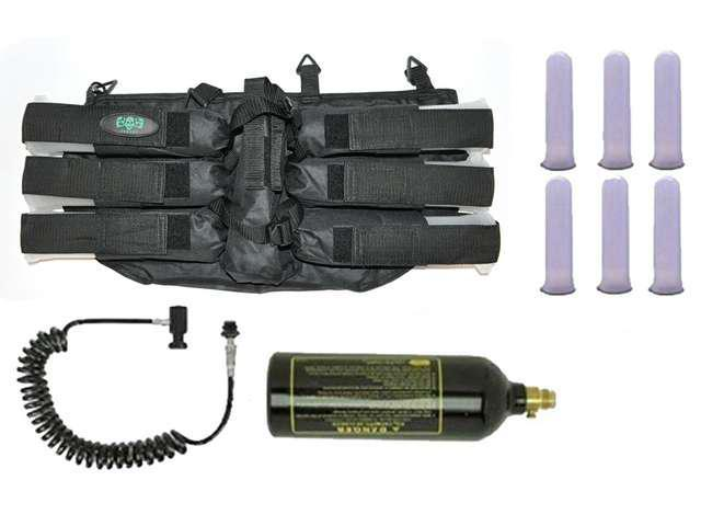 3Skull Paintball Pack - 6+1 Harness & Pods + Coiled Remote + 20oz Tank