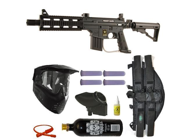 US Army Project Salvo Paintball Marker Gun 3Skull 4+1 Revolution Mega Set