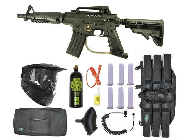 US Army Alpha Black Tactical Paintball Marker Gun 3Skull Sniper Set - Black