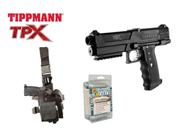 Tippmann TiPX Paintball Marker Pistol + GTA Holster + 12 CO2 Cartridges