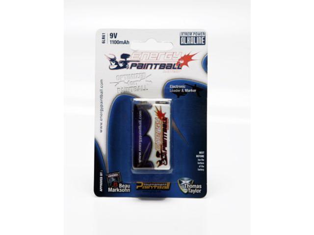 Energy Paintball 9V 1100mAh Alkaline Battery 1 Pack