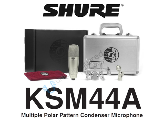 Shure KSM44A Large Dual-Diaphragm Condenser Microphone