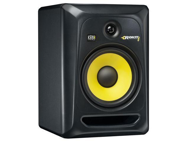 KRK RP8-G3 Rokit 8 Generation 3 Powered Studio Monitor, Black, Single Speaker