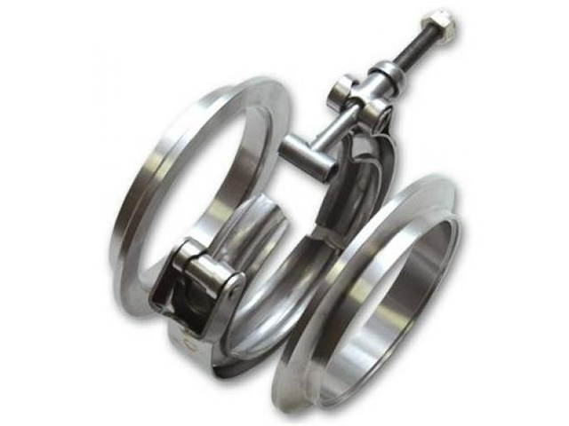 Vibrant 11493 Aluminum V-Band Flange Assembly for 4in O.D. Tubing