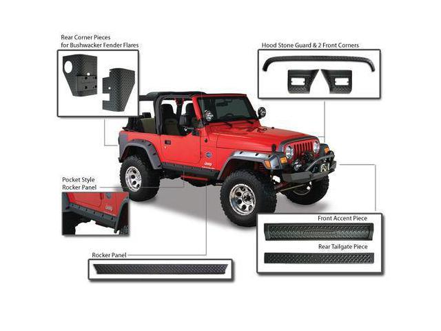 Bushwacker 14003 Trail Armor Front & Rear Accent Set