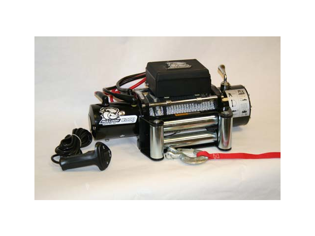 Bulldog Winch 10001 8000lb Winch with 5.2hp Series Wound Motor, Roller Fairlead