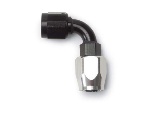 Russell 610193 Hose End -12 90° Black/Silver