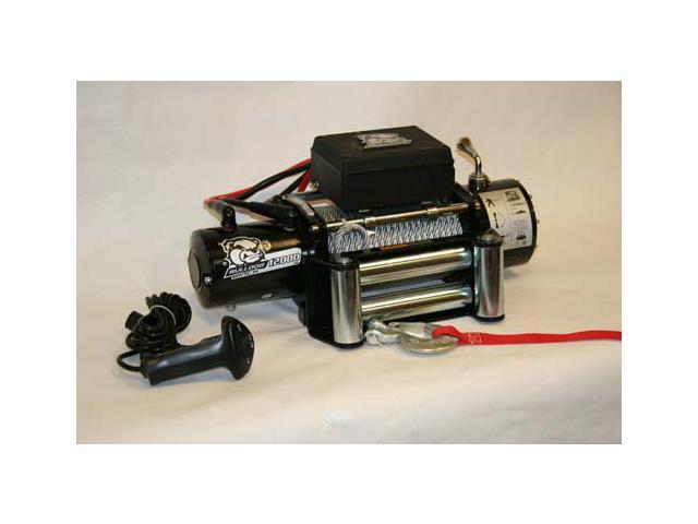 Bulldog Winch 10003 12000lb Winch with 6.0hp Series Wound Motor, Roller Fairlead