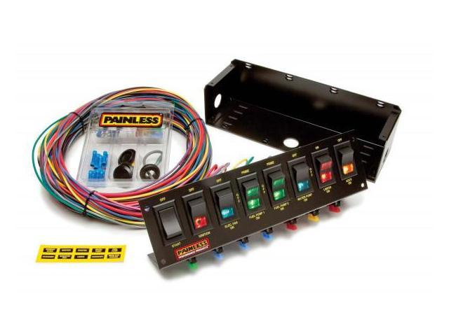 Painless 50303 8 Switch Fused Panel w/all necessary wiring & hardware