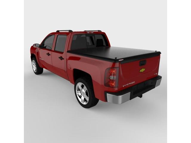 Undercover UC1060 CLASSIC Hinged ABS Tonneau Cover, Silverado 5.7'; Black