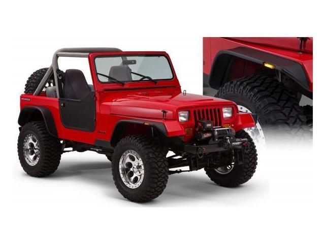 Bushwacker 10924-07 Jeep Flat Style Fender Flare Set of 4