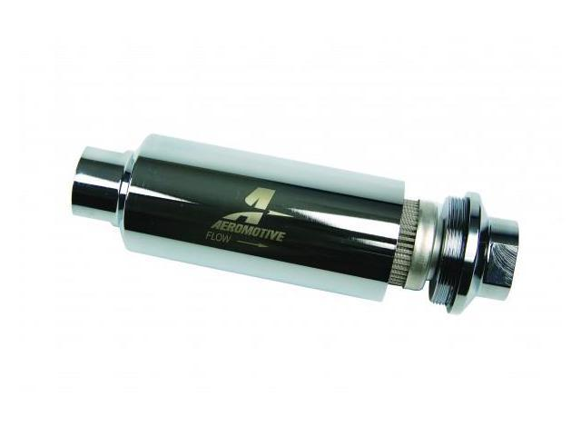 Aeromotive 12302 Pro-Series, In-Line Fuel Filter (AN-12) 100 micron stainless