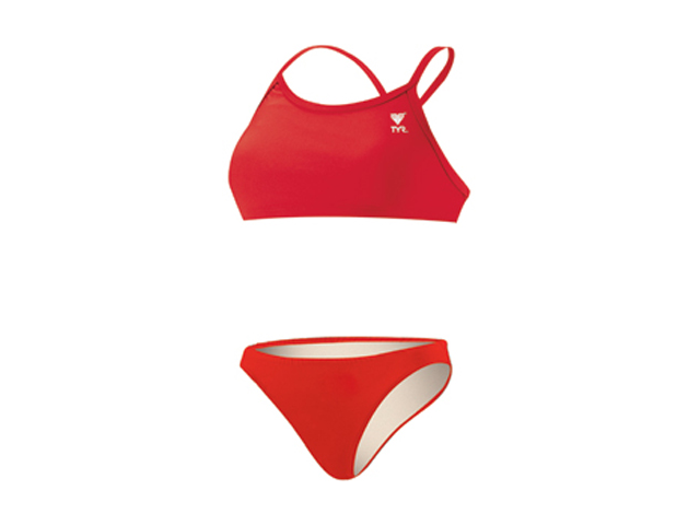 Tyr Solid 2 PC Female Red X-Large