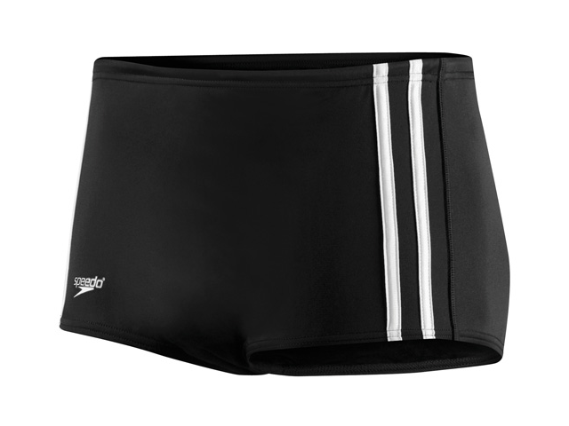 Speedo Stripe Square Leg Male Black 30