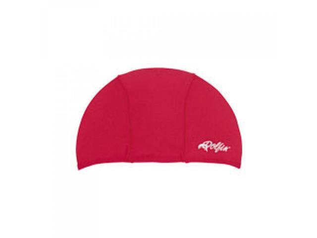 Dolfin Lycra Swim Cap Red