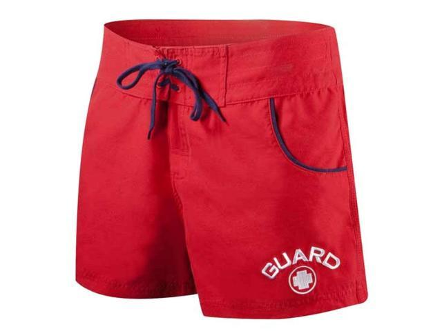 Tyr Guard Short w/Piping Female Red X-Small