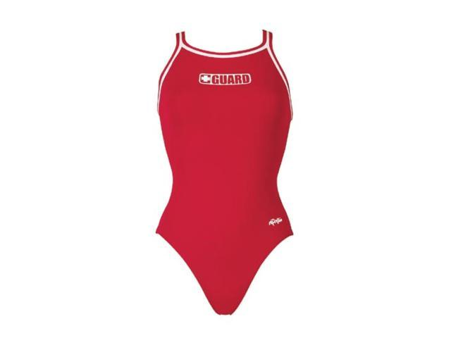 Dolfin Poly Guard DBX Back Female Red 40