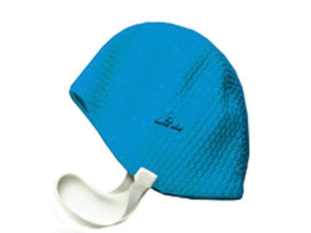Water Gear Bubble Silicone Swim Cap Blue Medium