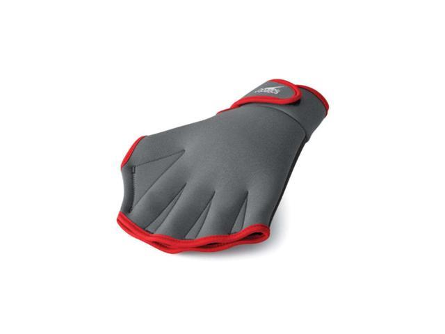 Speedo Fitness Glove Charcoal/Red Medium