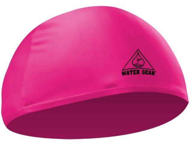 Water Gear Lycra Swim Cap Neon Pink