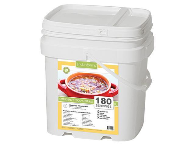 Lindon Farms 180 Servings Emergency Food Storage Kit- 15 days, 1 person, 2000 calories a day