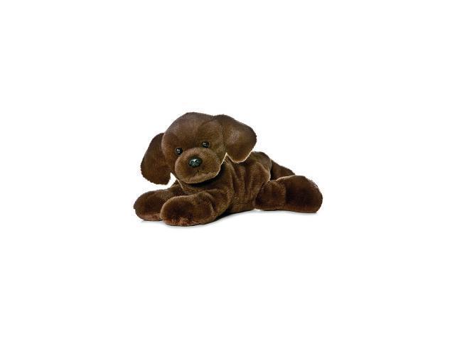 "Lil Lucky Chocolate Lab Mini Flopsie 8"" by Aurora"
