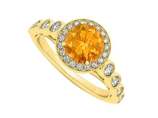 november birthstone citrine and cubic zirconia halo