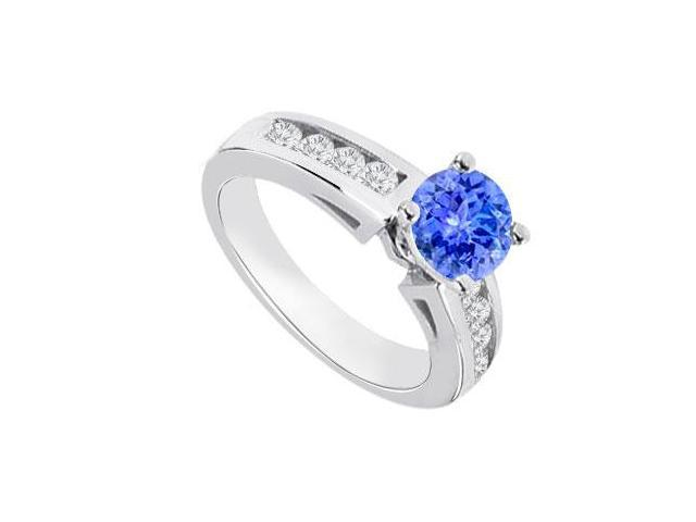 tanzanite and engagement ring 14k white gold 0 80