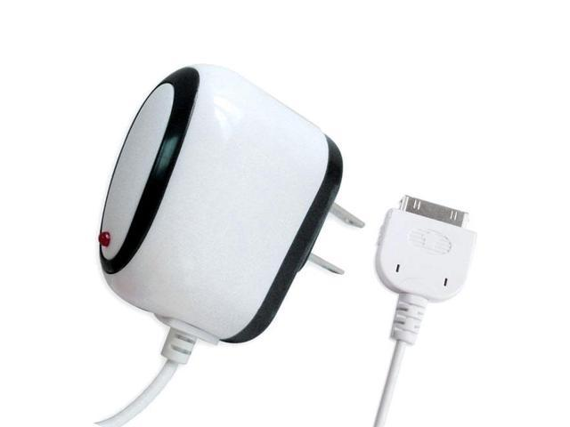 Naxa NI-3211 AC Wall Charger for iPod and iPhone (White)