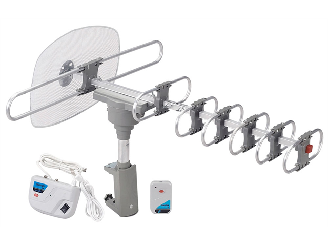 QuantumFX ANT-105 HDTV Motorized and Amplified Digital Outdoor TV Antenna