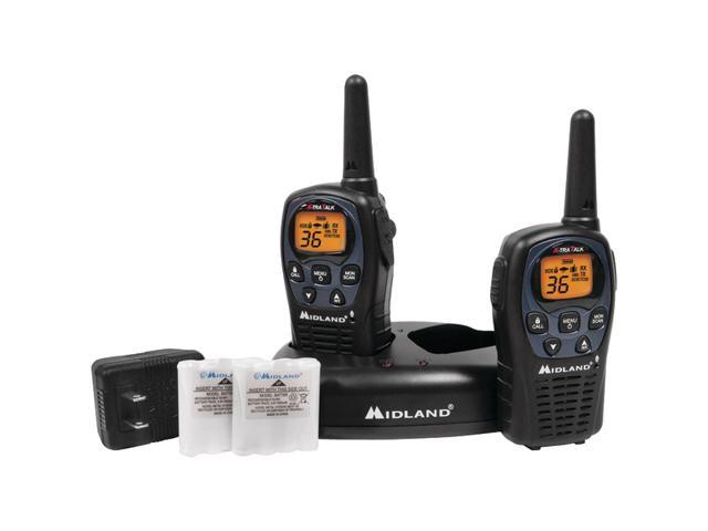 MIDLAND LXT560VP3 26-Mile GMRS Radio Pair Pack with Drop-in Charger & Rechargeable Batteries