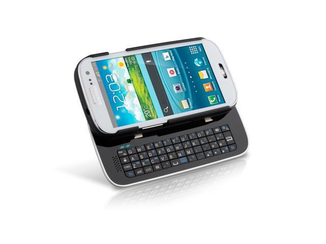 Sliding Bluetooth Keyboard Case for Samsung Galaxy S3 - Black - Retail (12446)