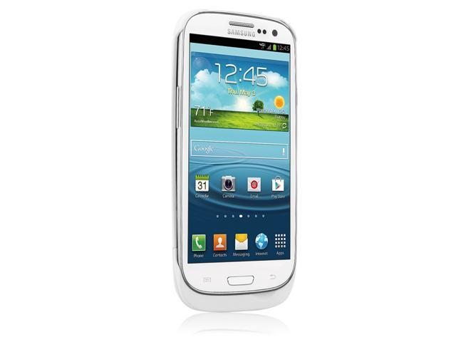 Naztech 2400mAh Power Case for Samsung Galaxy SIII - White - Retail (12109)