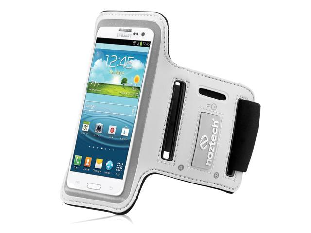 Naztech Universal Sports Armband for Most Large Smartphones - White - Retail (12210)